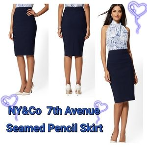 7th Avenue - All Season Seamed Pencil Skirt